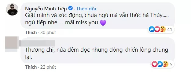 Miss Thu Thuy's personal Facebook status was suddenly updated after 6 days of her death