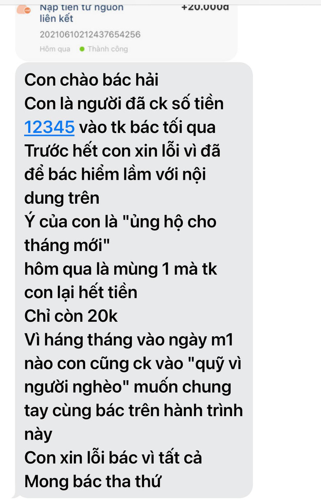 Mr. Doan Ngoc Hai was angry with the sponsor just because the support message caused a harmful misunderstanding 4