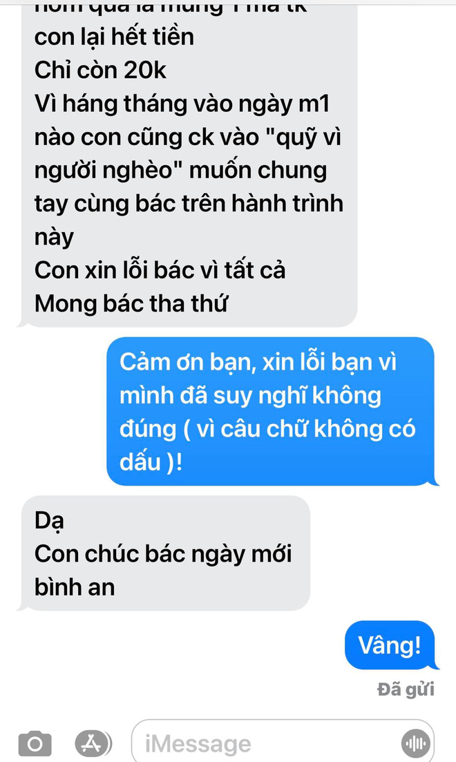 Mr. Doan Ngoc Hai was angry with the sponsor just because the support message caused a harmful misunderstanding 5