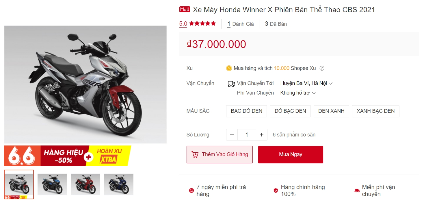 'King of clutches' Exciter sweats before a serious opponent: cheap Honda Winner X is startled when buying online 3