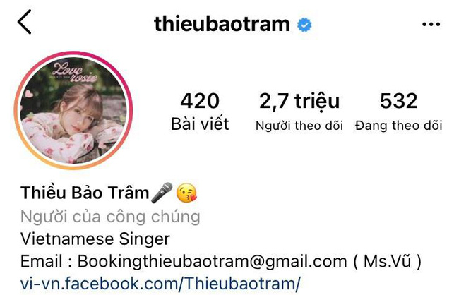 After the 'green tea' noise, Thieu Bao Tram's social media interaction increased dramatically, even accepting Son Tung 2