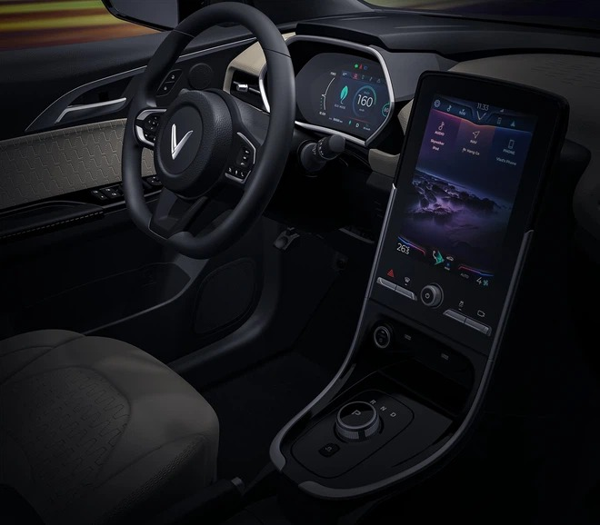 What's the difference between the interior of VinFast VF e34 electric car and the air conditioning system that filters fine dust?  3