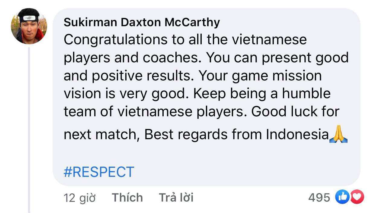 Vietnam's victory makes Indonesian fans admire and respect 4