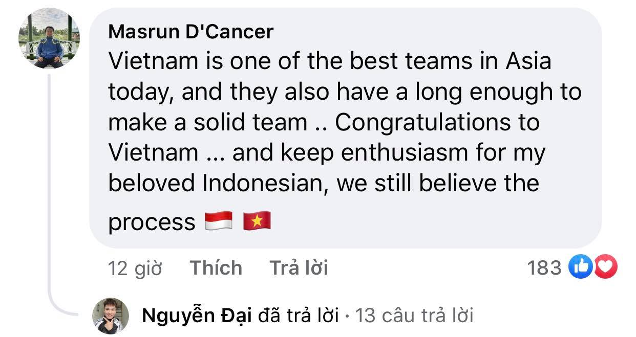 Vietnam's victory makes Indonesian fans admire and respect 8