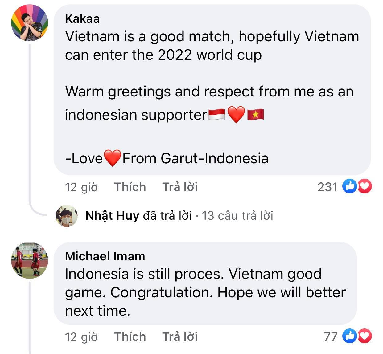 Vietnam's victory makes Indonesian fans admire and respect 9