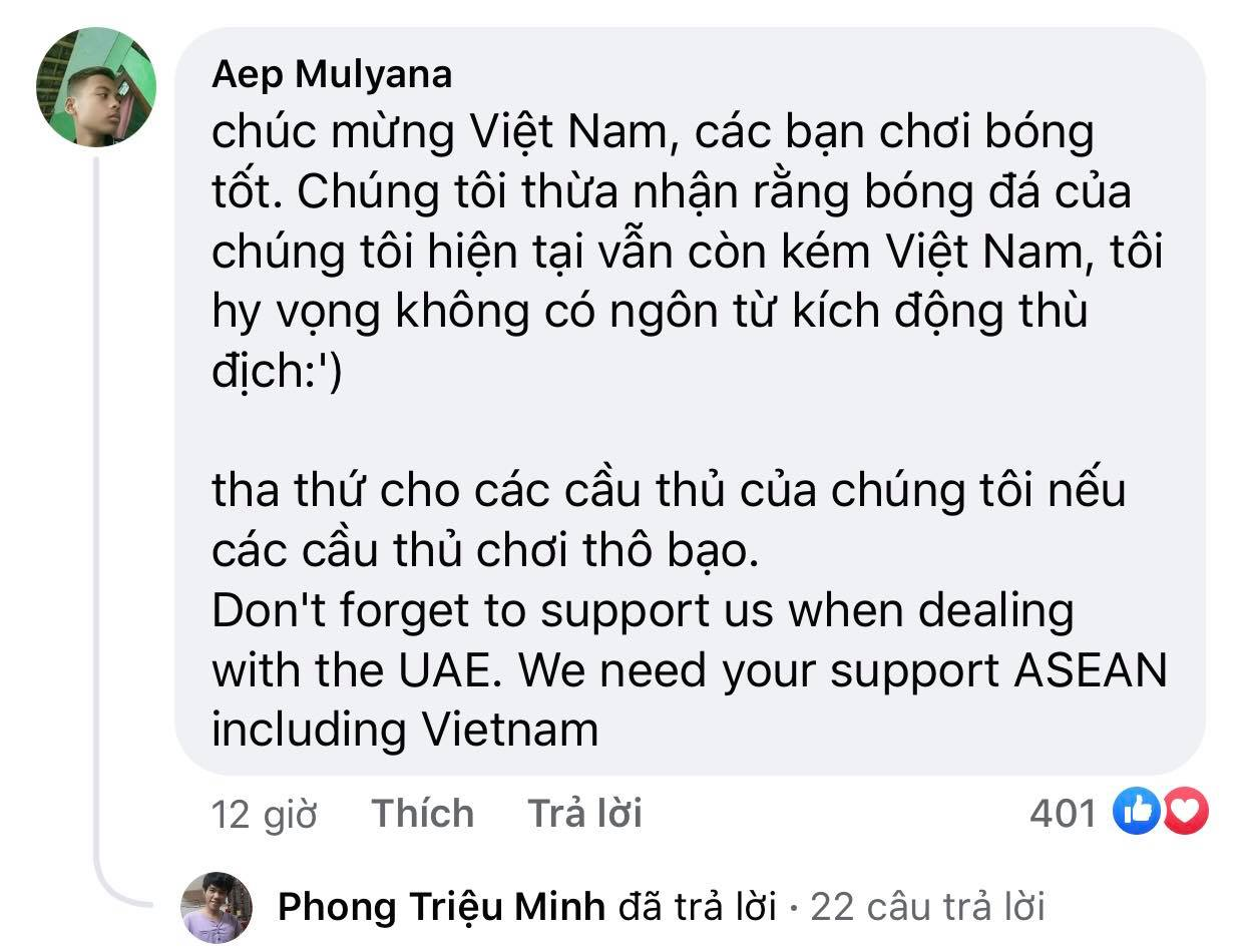 Vietnam's victory makes Indonesian fans admire and respect 10