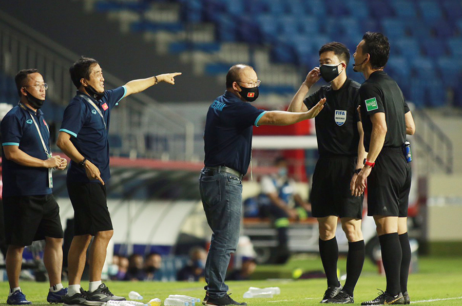 Coach Park Hang-seo was banned by AFC from all forms of contact with Vietnam in the match against UAE 2