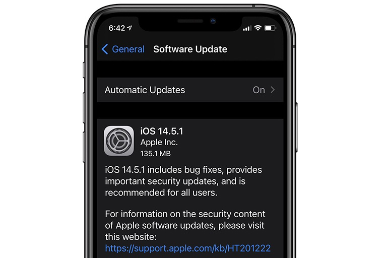 Apple released iOS 14.5.1 patch, iPhone users need to update immediately if they don't want to be taken over