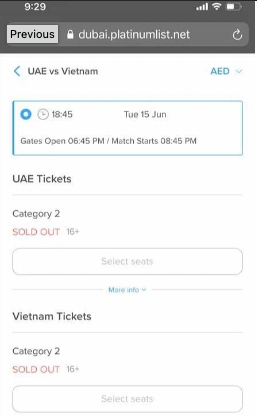 The UAE officially spoke out about the rumor of not selling tickets to Vietnamese fans