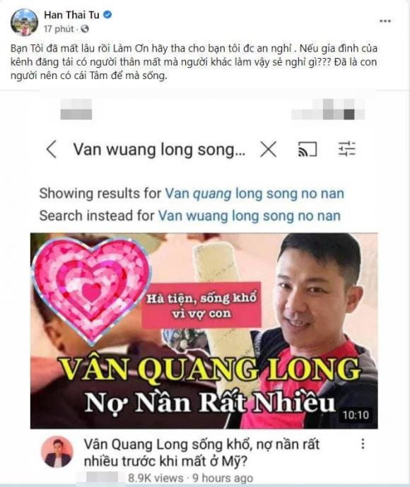 Van Quang Long has been dead for 6 months, but he is still being taken advantage of by bad actors for profit