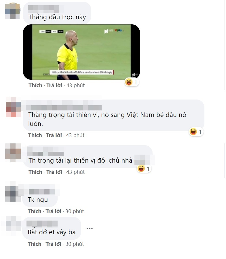 Ignoring the penalty situation of the Vietnamese team, the referee was messed up by fans on his personal page 5