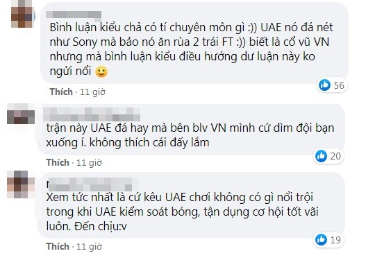 BLV Ta Bien Cuong was criticized by netizens for sinking the UAE to the bottom, listening to it, just wanted to turn off the TV 4