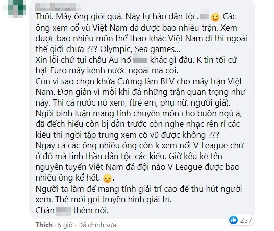 BLV Ta Bien Cuong was criticized by netizens for sinking the UAE to the bottom, listening to it, just wanted to turn off the TV 6