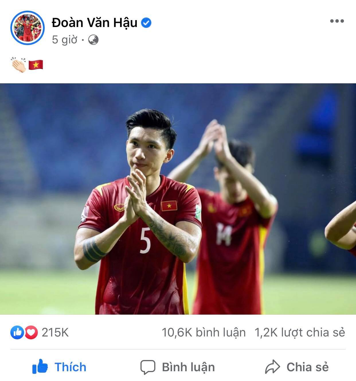 Doan Van Hau also had very good performances in the 2022 World Cup qualifiers.