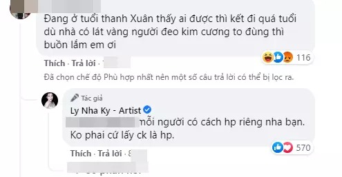 Being mocked for being single at U40, Ly Nha Ky suddenly made a statement that surprised people 3