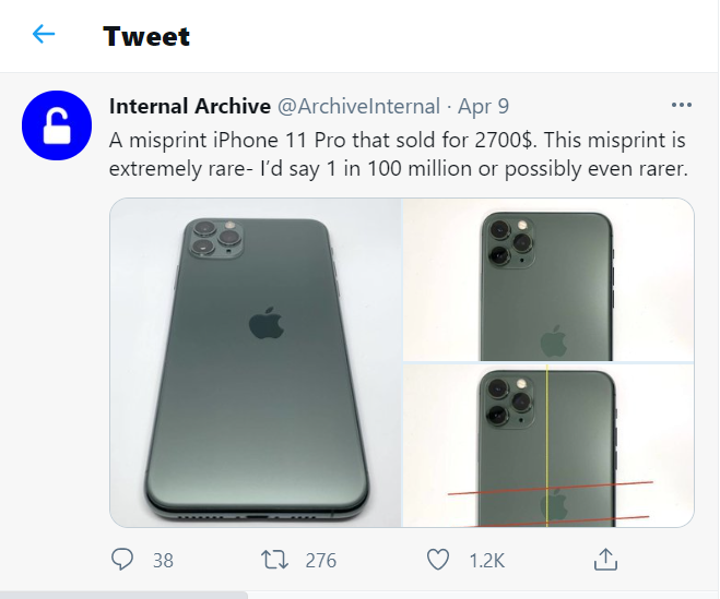 60 million dong for a unique 'deformed' iPhone 11 Pro 1
