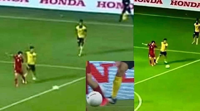 Called 'Lon Van Toan' after the situation that led to the penalty, the owner revealed: 'It kicked me, I wanted to tear my shoes'