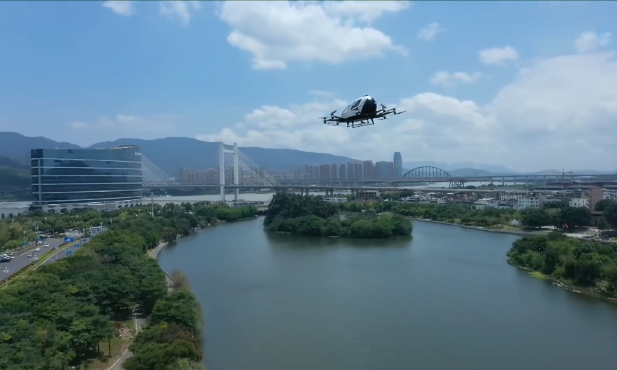 China's self-driving flying taxi successfully carried out a flight carrying 2 passengers 1
