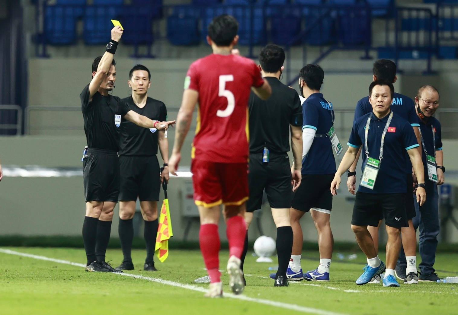 Coach Park Hang-seo was banned by AFC from all forms of contact with Vietnam in the match against UAE 1