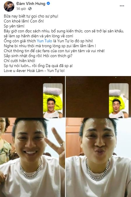 Only one action of Hoai Lam made Dam Vinh Hung unable to hide his happy feelings 1