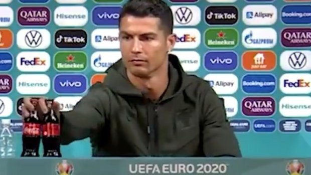 Ronaldo was criticized for 'hypocrisy' after knocking Coca-Cola out of sight