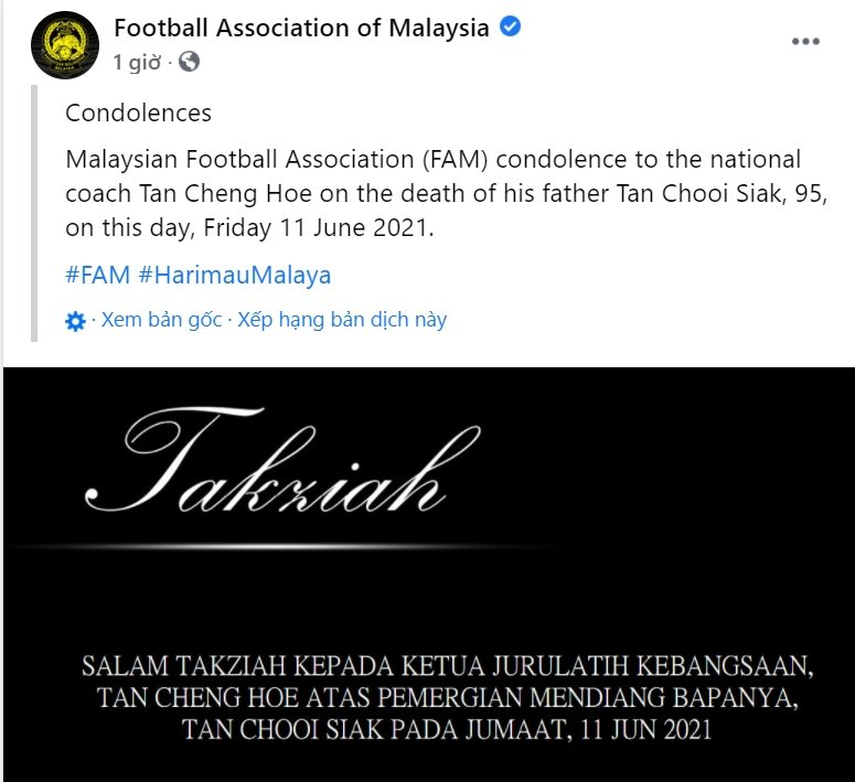 8 hours before the ball rolled, the Malaysian coach received too much pain from his hometown 1