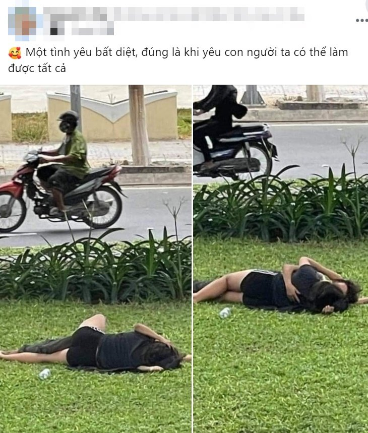 The couple casually lay hugging and kissing on the grass, fans: 'It's true that how many people are normal when it comes to love'?  first