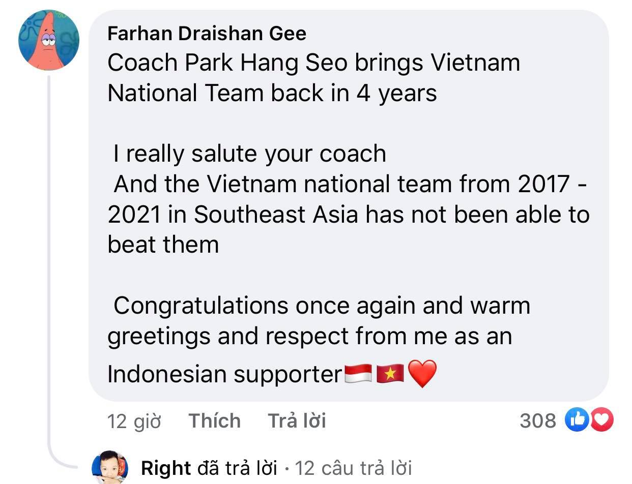 Vietnam's victory makes Indonesian fans admire and respect 1