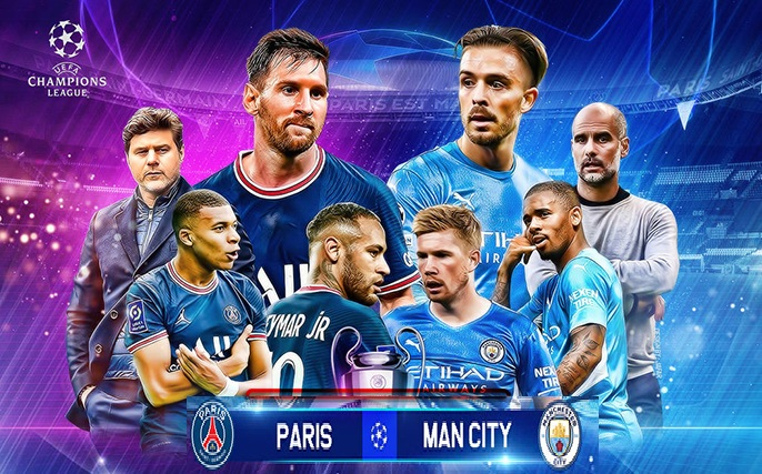 Live football PSG vs Man City (2h00, 29/9) Round 2 Champions League group stage 1