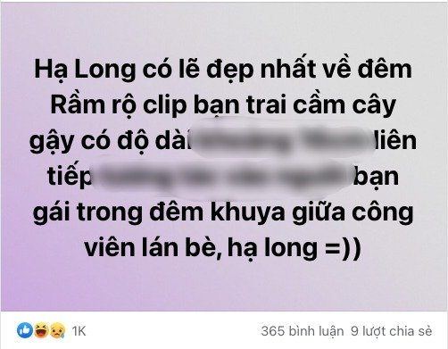 Late night clip of the Ha Long couple: Fans eagerly ask for the link, dot wait 'accidentally' 1