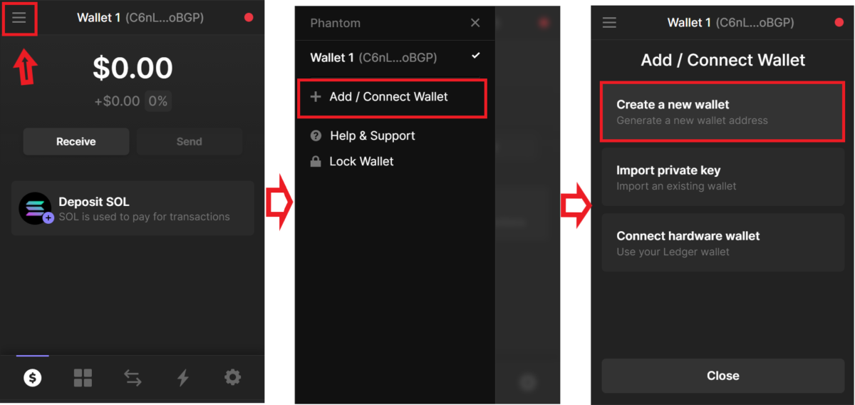 Function to create a new wallet