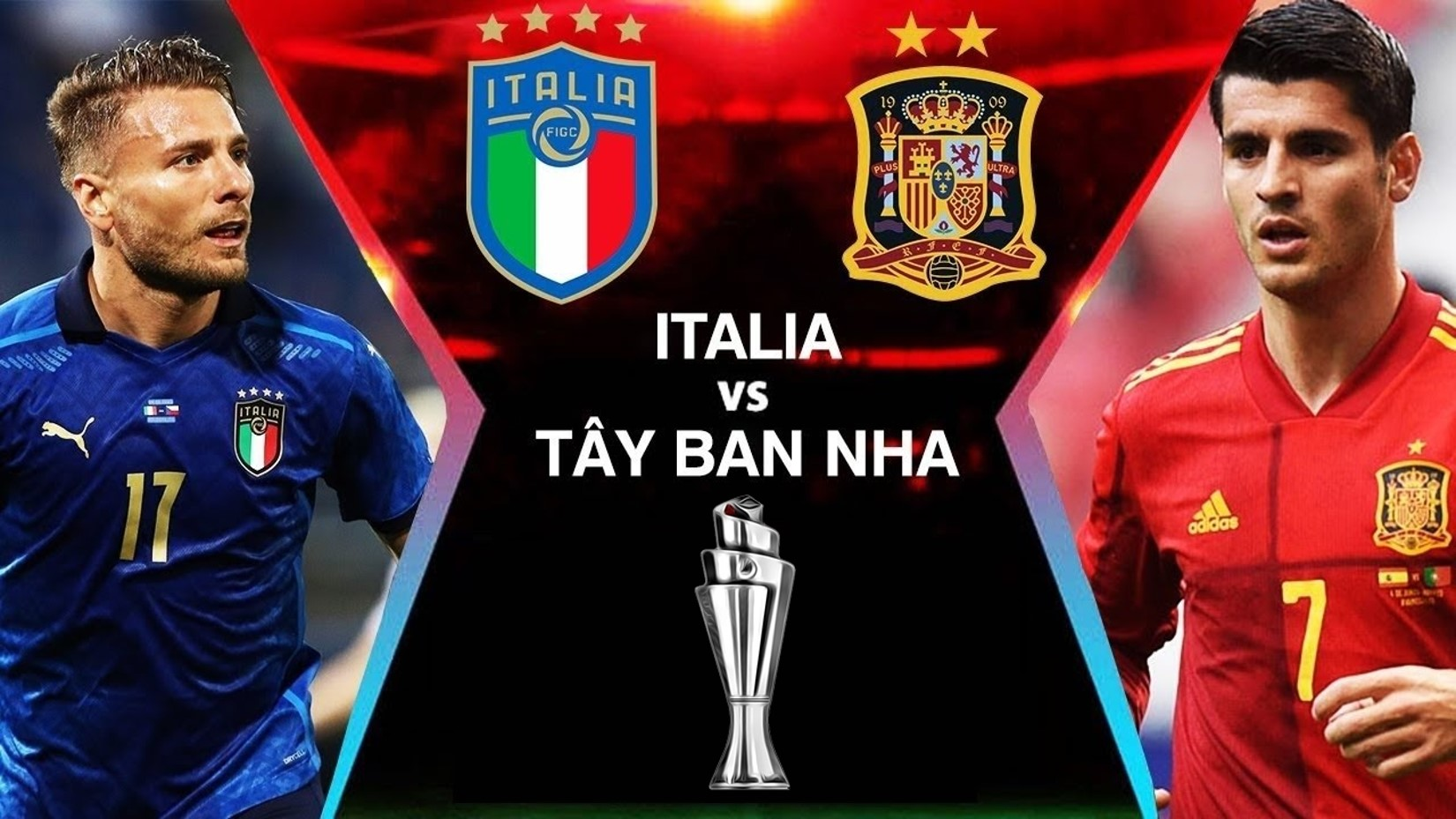 Football schedule today 7/10: Vietnam Tel to match, Italy rematch Spain 2