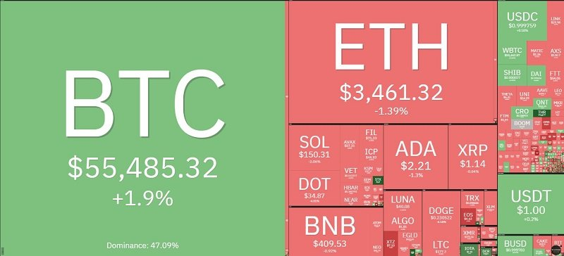 Bitcoin price today 11/10: Bitcoin continues to increase in price, most of the market drops 2