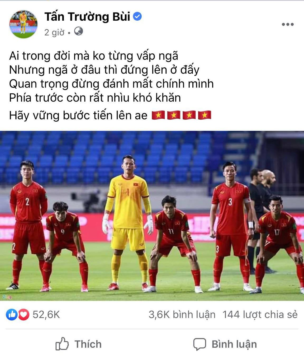 Attacked by aggressive netizens after the Vietnam - China match, goalkeeper Tan Truong officially spoke up 1