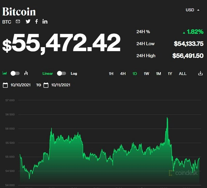 Bitcoin price today 11/10: Bitcoin continues to increase in price, most of the market drops 1