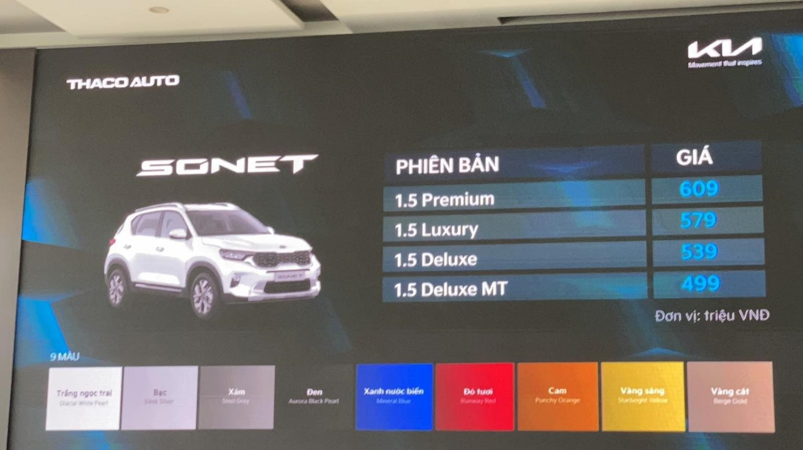 Kia Sonet officially offers Vietnam market, starting price is only 499 million VND 1