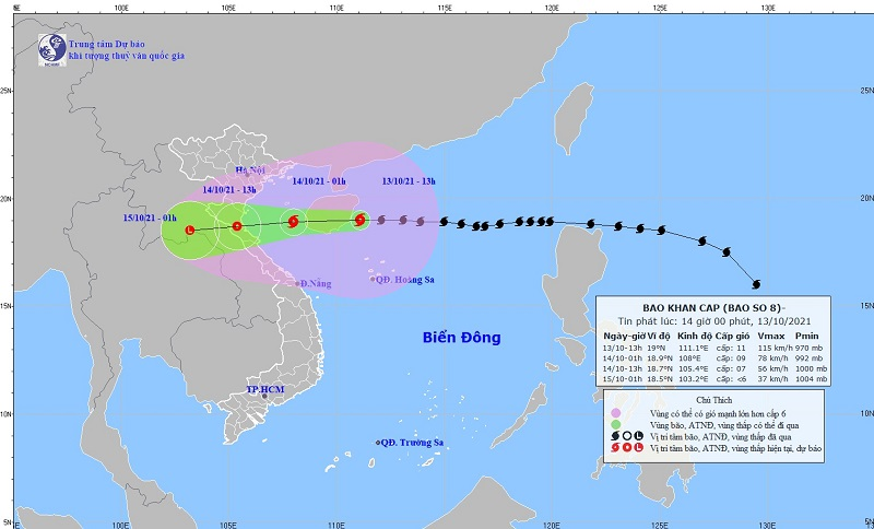 Update on the latest storm news: Storm No. 8 is only about 600km from Thanh Hoa 1