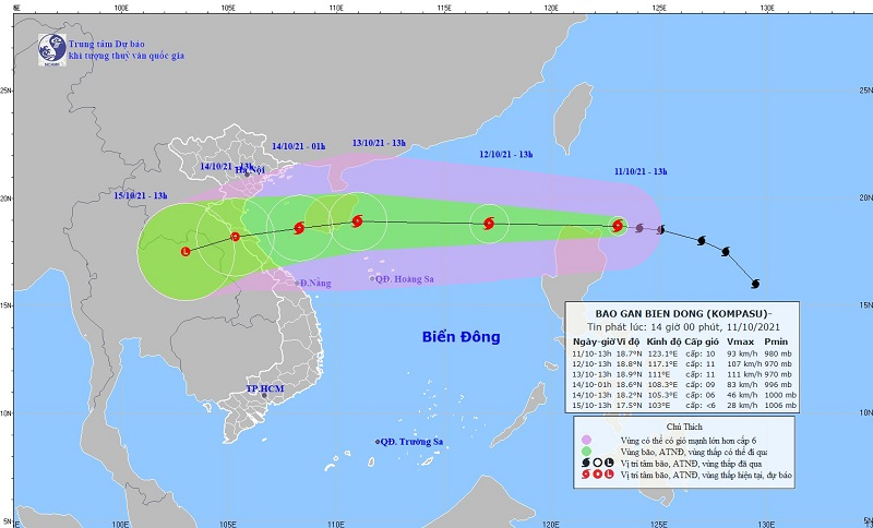 Less than a day, Typhoon Kompasu will enter the East Sea, level 13 1