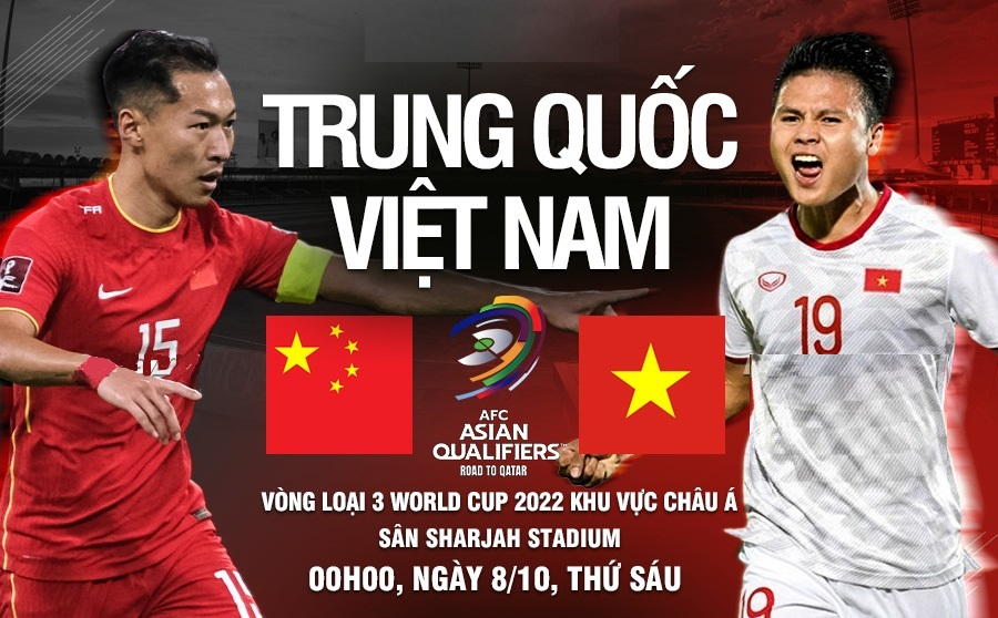 Link to watch Vietnam vs China live football (0h00, 08/10) World Cup 2022 qualifiers 1