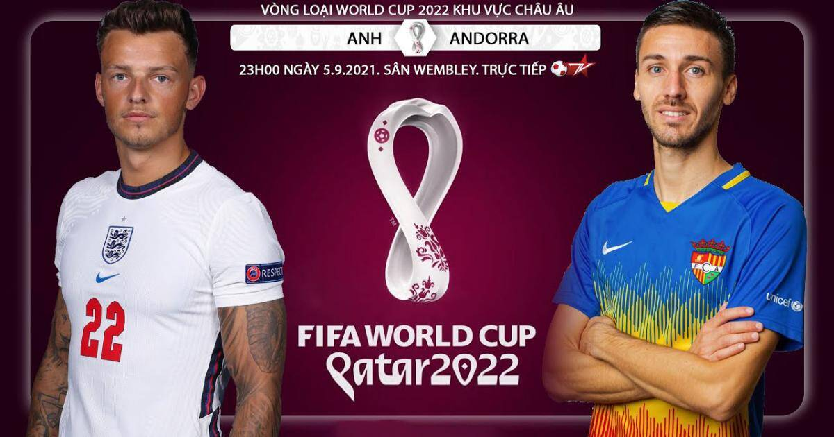 Link to watch live English football vs Andorra (1h45, 10/10) World Cup 2022 qualifiers 1