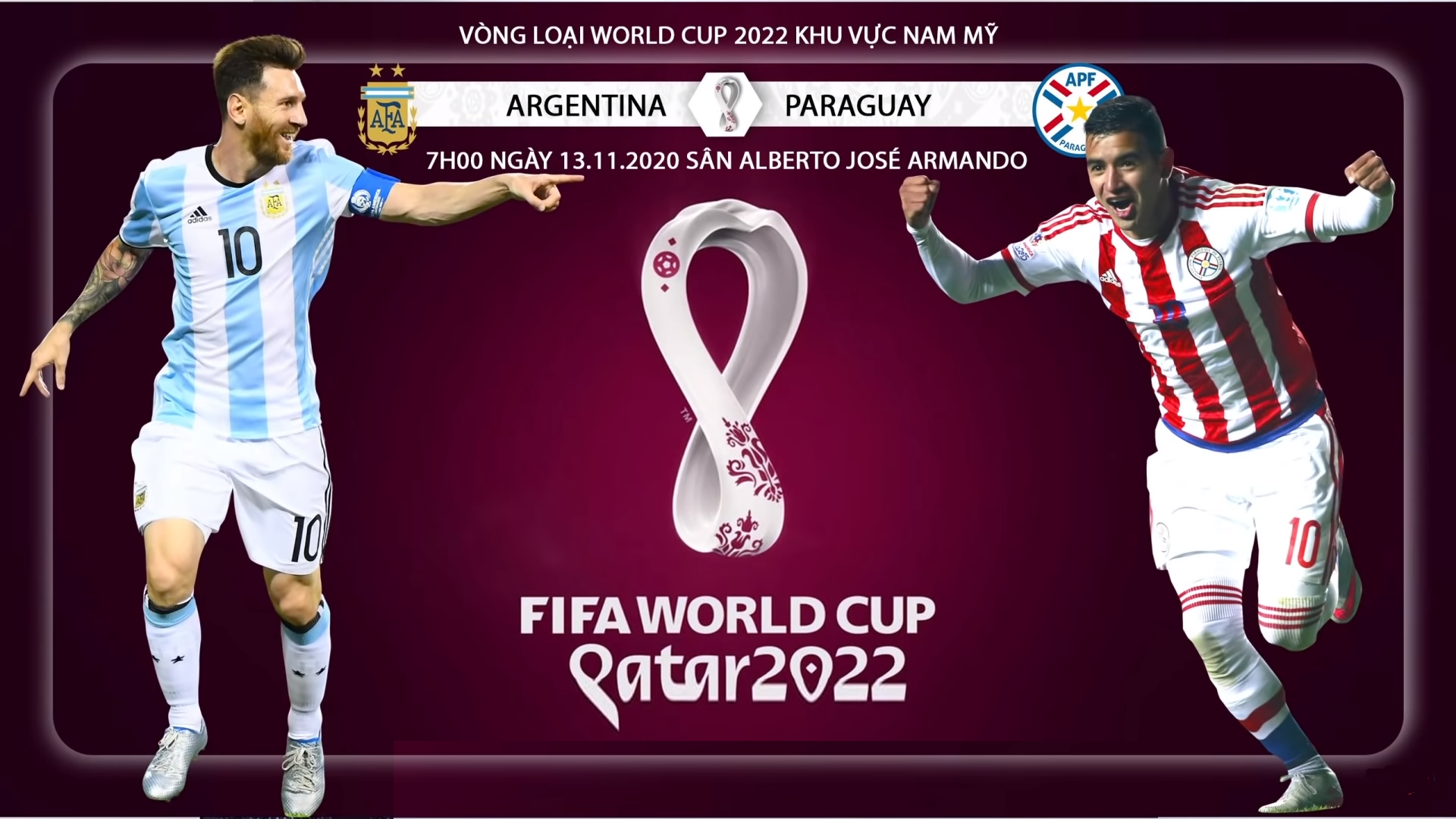 Link to watch live football Paraguay vs Argentina (6h00, 8/10) World Cup 2022 qualifiers 1