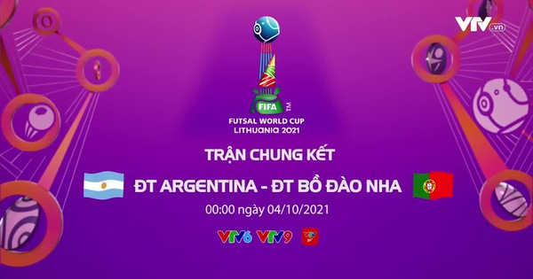 Watch the Futsal World Cup final live (0h00, 4/10): Argentina vs Portugal 1