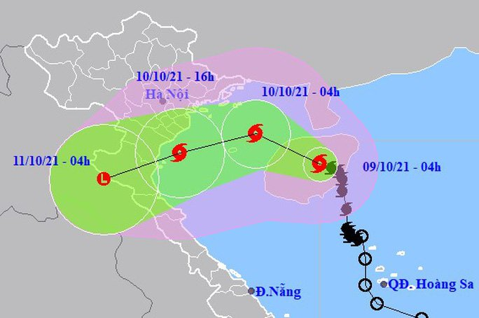 News about storm No. 7: Storm No. 7 shocks level 11 into the Gulf of Tonkin, the ability to change direction is complicated 1