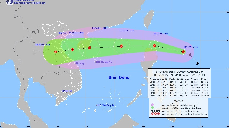 Storm No. 7 has not yet dissipated, the East Sea is preparing to receive another powerful storm Kompasu 1
