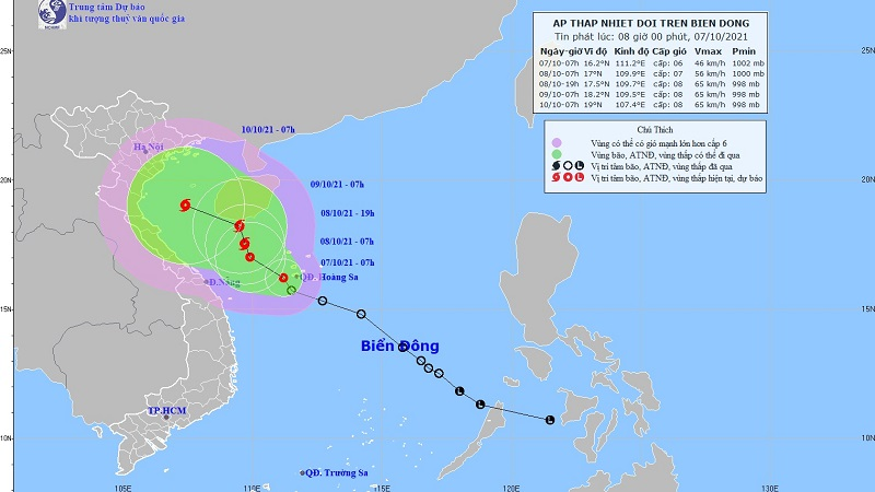 Tropical depression changes direction, in the next 24 hours, it will become storm No. 6 1