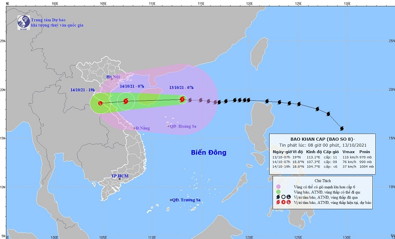 Update on the latest storm news: Storm No. 8 shock level 14 rushes to the mainland of Central Vietnam 1