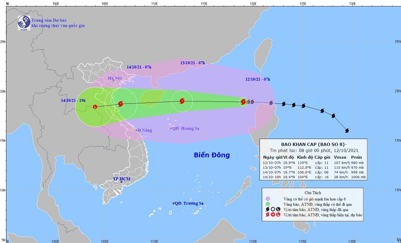 Update the latest storm news, storm No. 8: The storm is heading to Thanh Hoa - Quang Binh 1