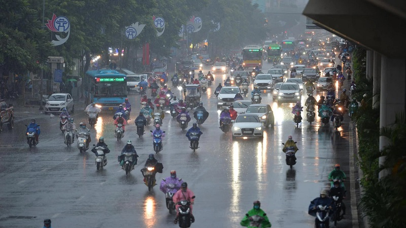 Weather forecast October 14: Heavy rain in the North and Central Vietnam due to the influence of storm No. 8 1